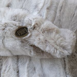 Pier 1 Accents - Pier 1 Throw Pillow Cover Faux Fur Ivory Tan